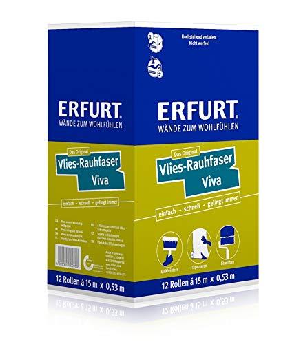 1 Karton mit 12 Rollen Erfurt Rauhfaser Raufaser Vlies VIVA 95,4m²