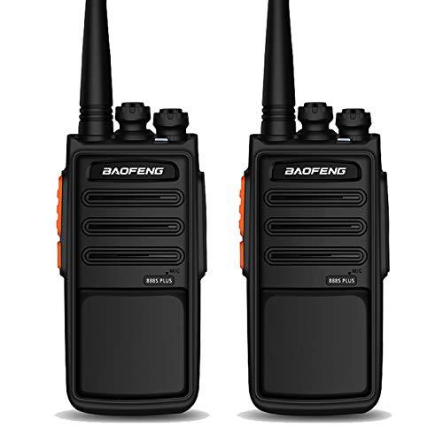 BAOFENG BF-888S-PLUS Walkie-Talkies Long-Range Two-Way-Radios Rechargable Fast USB-Charging(Black,1Pair)