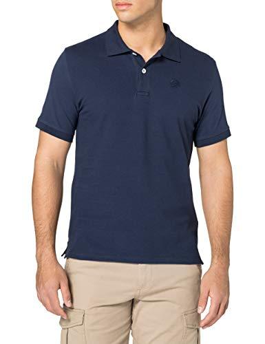 NORTH SAILS Polo da Uomo Blu Notte - 100% piqué di Cotone - vestibilità Regolare - Leggera con Maniche Corte e Numeri Ricamati - M