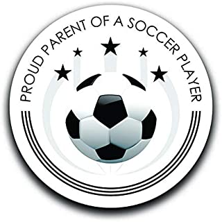 More Shiz Proud Parent of A Soccer Player Decal Sticker Car Truck Van Bumper Window Laptop Cup Wall - Two 5 Inch Decals - MKS0339