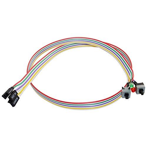 4in1Interruptor de reinicio de alimentación para Pc HDD motherboar Kit de luz Cable LED para ordenador