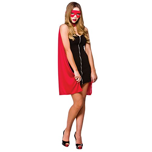 Super Hero Adult Red Cape One Size