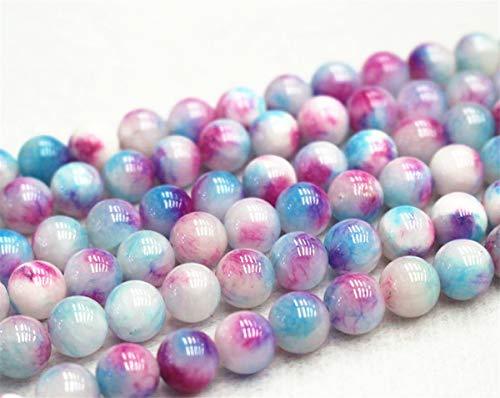 Perles de jade rondes et lisses de 6 mm, 8 mm, 10 mm, 12 mm. Vente en gros (6 mm, 63 pièces)
