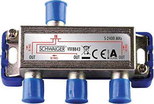 Schwaiger VTF8843241 High-End-Verteiler 3-Fach für BK- und GA-Anlagen (110 dB)