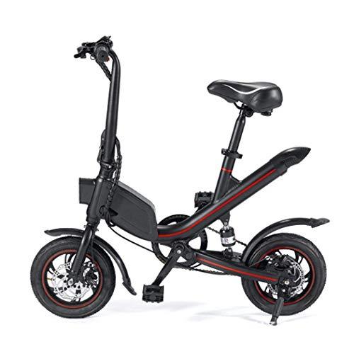 CYGGL Bicicleta eléctrica Scooter Plegable, Frenos de Disco Delanteros y Traseros, 12 Pulgadas 25KM / H, Campo de prácticas 20-30KM, Amortiguador