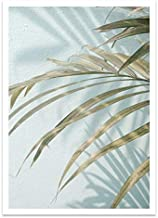 YTGDFB Tropical Decoration Sea Leaf Canvas Poster Landscape Nordic Style Wall Art Print Nature Painting Decorative Picture A2 42x60cm No Frame OT349-4