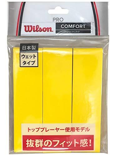Wilson(ウイルソン) テニス バドミントン グリップテープ PRO OVERGRIP(プロオーバーグリップ) 3個入り イエロー WRZ4020YE ウィルソン