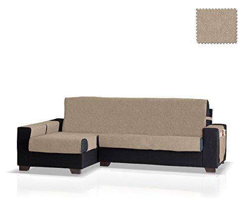 JM Textil Funda de sofá Chaise Longue Pharma Brazo Izquierdo, Tamaño Normal (245 Cm.), Color Visón