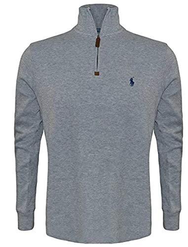 Polo Ralph Lauren Men's Big & Tall Fleece 1/2 Zip Mock Sweater-GreyHtr-2XB