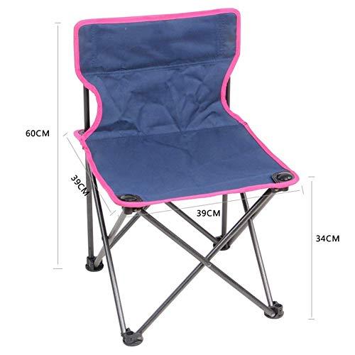 YLCJ klapstoel, kruk camping klapstoel licht aluminium compacte draagbare statief stoel met rugleuning schouderriem voor camping outdoor vissen wandelen (kleur: geel 42 * 42 * 65 cm) Groen 39 x 39 x 60 cm.
