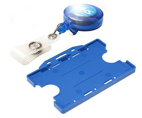 54x87 mm 1 tessera//badge carbone Card Holder De Luxe Pro portabadge con chiocciola yo-yo cromata clip in metallo da 10 pezzi DURABLE 830758 conf