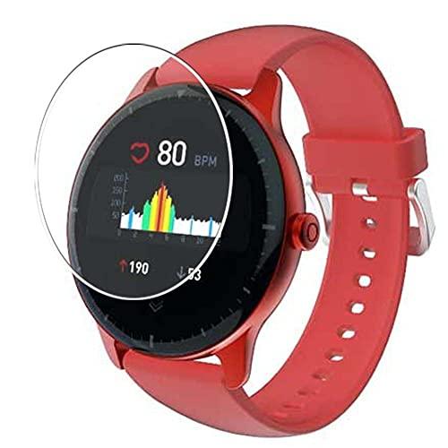 Vaxson 3 Unidades Protector de Pantalla, compatible con Doogee CR1 Smart Watach 1.3' Smartwatch Smart Watch [No Vidrio Templado] TPU Película Protectora Reloj Inteligente Film Guard Nueva Versión