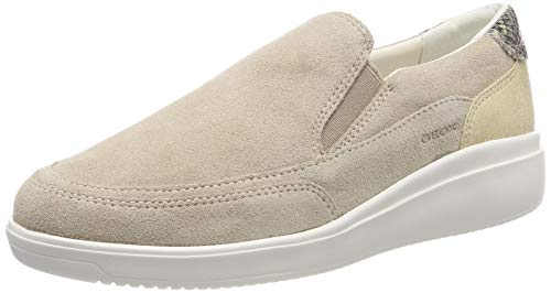 Geox D Tahina 22, Zapatillas Mujer, Beige Lt Taupe