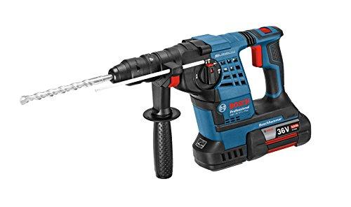 Bosch Professional Bohrhammer GBH 36 VF-LI Plus (inkl. 2x4,0 Ah Akku + Schnellladegerät, SDS-Plus Wechselfutter, Tiefenanschlag 310 mm, Schnellwechselbohrfutter 13 mm, Zusatzhandgriff, L-BOXX 238)