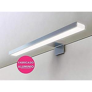 Kibath 213004 Aplique LED de 60cm GUE para iluminación del baño. Máxima luminosidad con sus mas de 69 leds que dan 13.8w y 1150 lúmenes, 13.8 W, 220 V, Cromado
