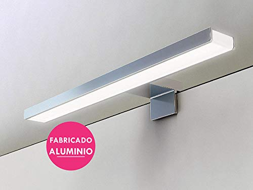 Kibath 213004 Led-wandlamp, 60 cm maximale helderheid met meer dan 69 leds met 13,8 W en 1150 lumen, 13,8 W, 220 V, verchroomd.