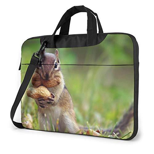 Squirrel Nut Laptop Shoulder Bag Sleeve Case, Shockproof Laptop Briefcase Computer Bag