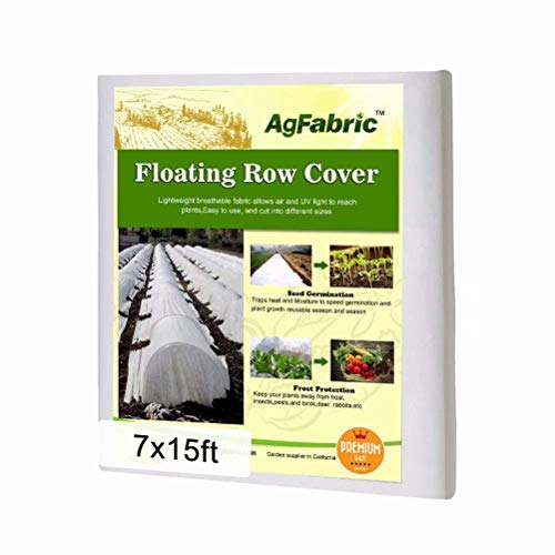 Agfabric Plant Covers Freeze Protection 7'x15' Row Covers for Vegetables, 0.9oz Frost Blanket for Garden