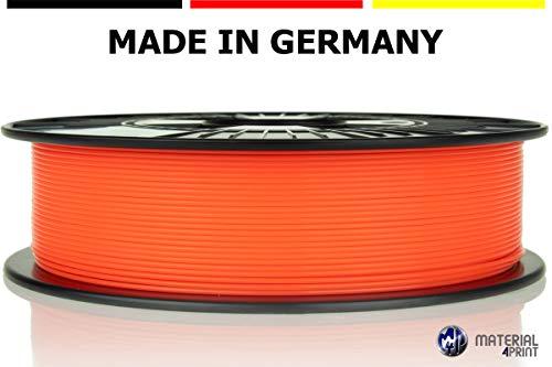 Material 4 Print PLA Filament 1,75 mm 750 g Rolle in Premium-Qualität für 3D Drucker und 3D Stift (Leuchtorange)