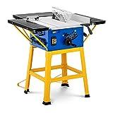 MSW Scie Circulaire Électrique Stationnaire Ronde Fixe Professionnelle Sur Table Sciage C-SAW254N (4 800 tr/min, Table de Coupe Élargissable de 63 x 54,6 cm, Haut. de Coupe 0-74 mm, Aspiration)
