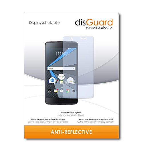 disGuard® Bildschirmschutzfolie [Anti-Reflex] kompatibel mit BlackBerry DTEK60 [2 Stück] Entspiegelnd, Matt, Antireflektierend, Extrem Kratzfest, Anti-Fingerabdruck - Panzerglas Folie, Schutzfolie