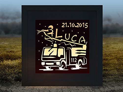 Kinderzimmerlampe Feuerwehrauto Luca