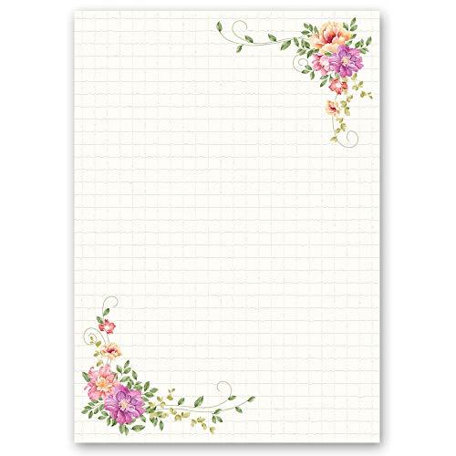 Briefpapier Blumen & Blüten BLUMENBRIEF - DIN A4 Format 100 Blatt - Paper-Media