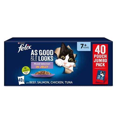 Felix Tan Bueno como se ve 7+ Comida para Gatos mezclada 40x100g