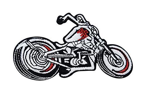 Finally Home Parche termoadhesivo para moto, para coser o planchar para chalecos de cuero | Parches, motivos de planchado