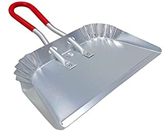 """Metal Dustpan 17"""", Aluminum Dust Pans Heavy Duty Does not Chip or Bend Sheet Metal Edge Flat Against Floor for Small Item ..."""