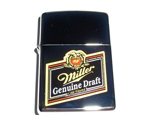 Zippo Miller Genuine Draft Beer High Polish Chrome Lighter