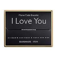 I Love You Morse コードブレスレット ハンドメイド ビーズ 調節可能 ストリングブレスレット インスピレーションジュエリー 女性用
