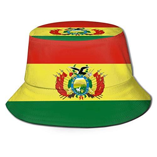 YoungbG Eimer Hut Bolivien Flagge Fischer Hut Mode Wilde Sonnenschutzkappe Licht Atmungsaktive Unisex Outdoor Sonnenhut