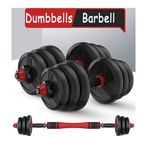 Fxhyy - Set di manubri regolabili da 9 a 27,2 kg, con biella, attrezzatura per il fitness per la casa, per uomini e donne, palestra, allenamento, allenamento, gambe, vita (coppia) (dimensioni: 15 kg