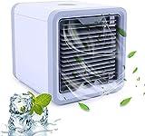 aire acondicionado apartamento, Aire acondicionado móvil, refrigeradores de aire, refrigerador mini-aire portátil 3 en 1, humidificador y limpiador con luces LED de 7 colores, Mini refrigerador de air