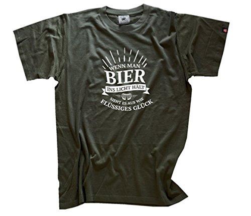 Shirtzshop Heren Als men bier in het licht houdt ziet het eruit als vloeibaar geluk T-shirt