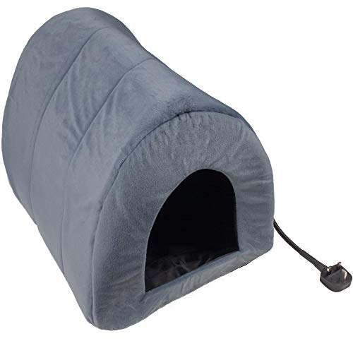 CJ's Heated Pet Bed Igloo For Cats and Small Dogs