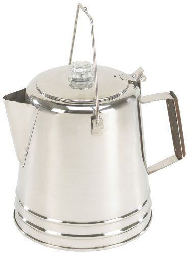 Stansport 3-Piece Stainless Steel 28 Cup Percolator Coffee Pot
