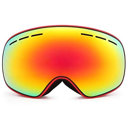 Gafas de snowboard de esquí Recién llegados Gafas de esquí Doble Capas UV400 Anti-niebla Máscara de esquí Gafas Esquí Hombres Mujeres Invierno Snow Deportes Snowboard Gafas R18 ( Color : Frame red )