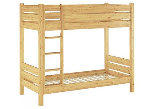 Erst-Holz® Etagenbett für Erwachsene Kiefer 90x200 Rollrosten Nische 100 Massivholz-Stockbett 60.16-09