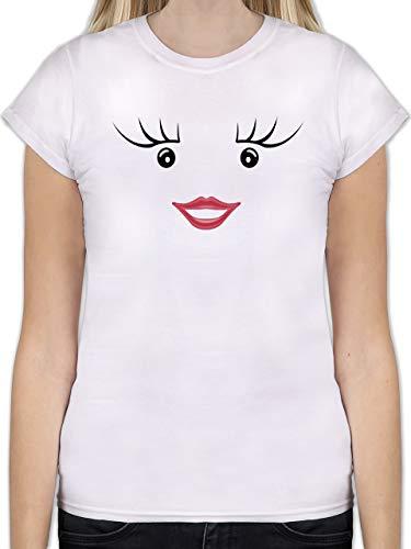 Karneval & Fasching - Partner-Kostüm Milch und Schokolade Sie - XXL - Weiß - L191 - Tailliertes Tshirt für Damen und Frauen T-Shirt