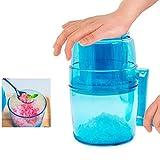 SYTH Eismaschine Eiscrusher Manuelle Haushalt Eiszerkleinerer Handheld Handbuch Eisschneider Fried Ice Machine (Blau)
