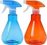 Lubier - 2 botellas de spray multifunción con pulverizador, con gatillo, botellas recargables para el hogar, viajes, oficina