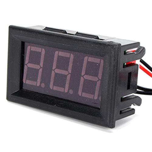 Thermomètre d' affichage numérique 12V rouge LED Test de capteur de température étanche