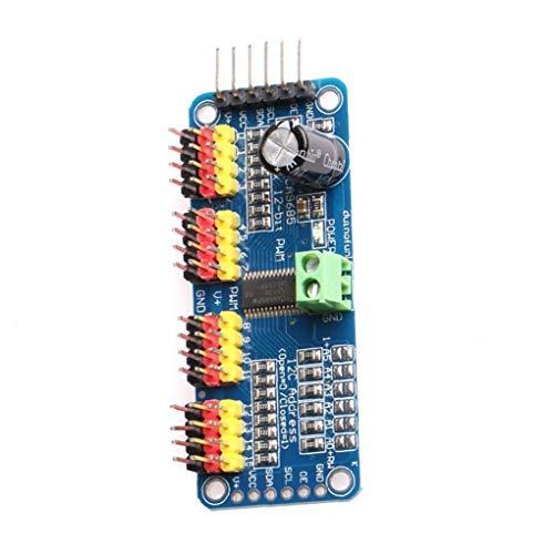 Odoukey 16 Kanal 12 Bit Iic I2C-Schnittstelle Pca9685 Modul von Pwm Servomotor-Treiber ist kompatibel mit Arduino Robot