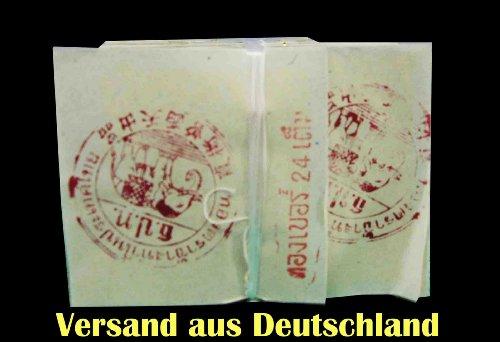Versand aus Deutschland - 100% ECHTES BLATTGOLD - ca 35 x 35 mm Blatt, Set zu 10 BLATT Blattgold 24K 999 Feingold - ua. zum Verzieren von Getränken und Speisen. ORIGINAL und NEU aus Thailand