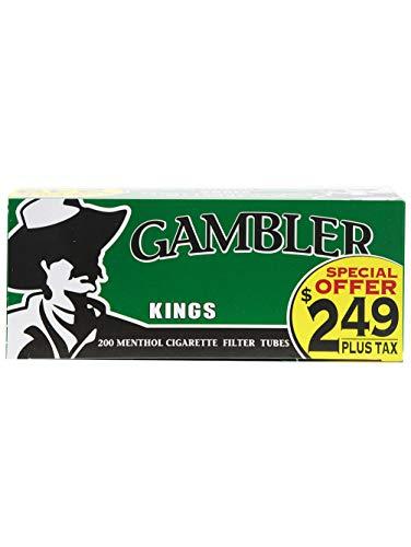 Gambler Menthol King Size Pre-Priced RYO Cigarette Tubes 200ct Box (5 Boxes)