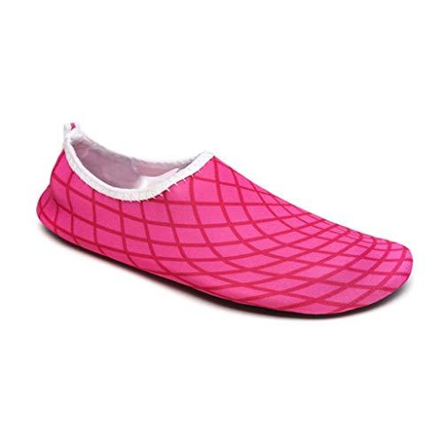 H.ZHOU Aqua Schuhe D95335 Männer Und Frauen Schnell Trocknend Atmungsaktiv Schwimmschuhe Treiben rutschfeste Eltern-Kind Wasser Ski Schuhe (Color : E, Size : 35-36)