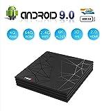 Android 9.0 TV Box, T95 Max Smart Box Lettore Multimediale 4GB RAM 64GB ROM H6 Quad-Core Cortex-A53 2.4GHz WiFi Supporto 3D 6K H.265 10/100M Ethernet HDMI con USB 3.0 Media Player