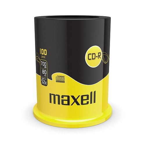 CD-R vergini Maxell 624841.40, 80min. 700MB in campana da 100 pezzi